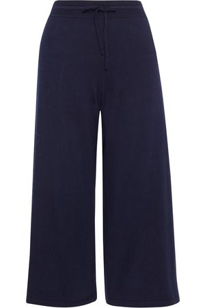 Vince Woman French Cotton-terry Culottes Navy Size L