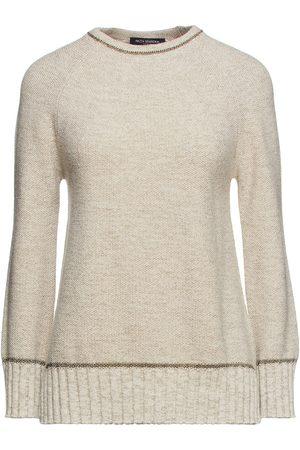 PIAZZA SEMPIONE Woman Metallic Mélange Wool-blend Sweater Cream Size 38