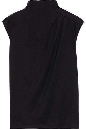IRIS & INK Woman Fabienne Pleated Organic Cotton-jersey Top Size 10