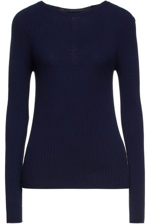 PIAZZA SEMPIONE Women Jumpers - Woman Ribbed-knit Sweater Navy Size 38