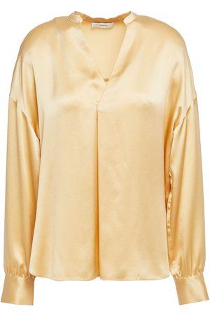 Vince Women Blouses - Woman Gathered Silk-satin Blouse Pastel Size L