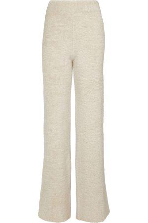 Palm Angels Flared wool-blend bouclé sweatpants
