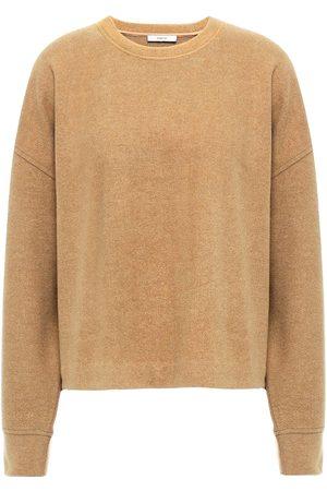 Vince Women Sweatshirts - Woman Brushed Knitted Sweatshirt Camel Size L