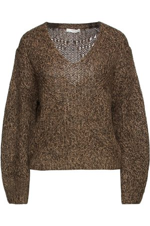 Vince Woman Mélange Knitted Sweater Size L