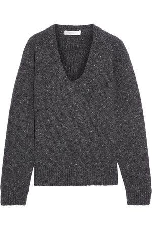 Vince Women Jumpers - Woman Donegal Wool-blend Sweater Dark Gray Size L