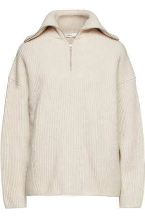 Vince Woman Ribbed Wool And Cashmere-blend Turtleneck Sweater Off- Size L