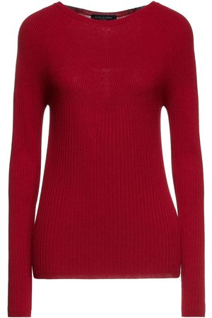 PIAZZA SEMPIONE Women Jumpers - Woman Ribbed-knit Sweater Claret Size 42