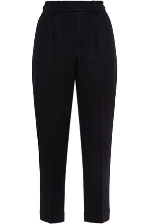 Vince Woman Pleated Wool-blend Tapered Pants Size L