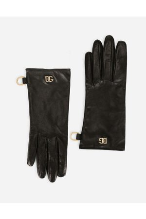 Dolce & Gabbana Women Hats - Hats and Gloves - Nappa leather gloves with DG logo female 7/2