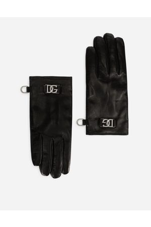 Dolce & Gabbana Collection - Nappa leather gloves with DG logo male 8
