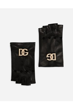 Dolce & Gabbana Collection - Nappa leather gloves with DG logo and pearls male 8
