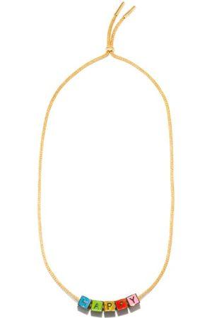 Lauren Rubinski Happy Enamel & 9kt Gold Necklace - Womens - Multi