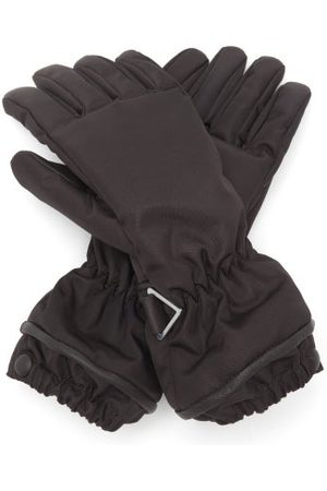 Bottega Veneta Padded Leather And Nylon Gloves - Womens