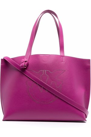Pinko Women Handbags - Logo-embroidered tote bag