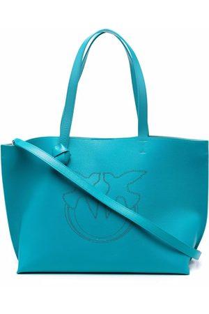 Pinko Women Handbags - Punch-hole logo tote bag