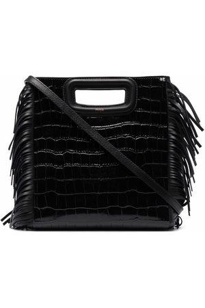 Maje Women Handbags - Crocodile-embossed leather M bag