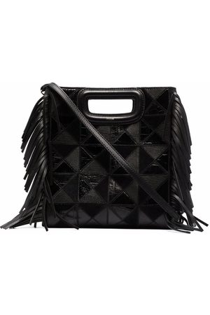 Maje Women Shopper & Tote Bags - Fringe-detail leather tote bag