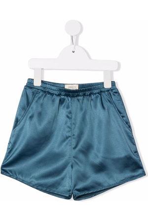 Longlivethequeen Straight-leg satin shorts