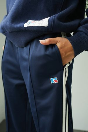 Russell Athletic UO Exclusive Track Pants - Blue S at Urban Outfitters