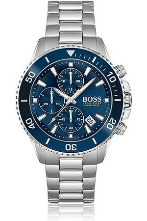 HUGO BOSS Men Watches - Blue-dial chronograph watch with rotating bezel