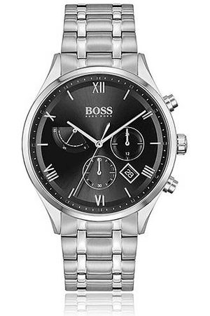 HUGO BOSS Men Watches - Link-bracelet chronograph watch with black dial