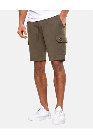 Threadbare Men Shorts - Hunter Fleece Cargo Shorts Khaki