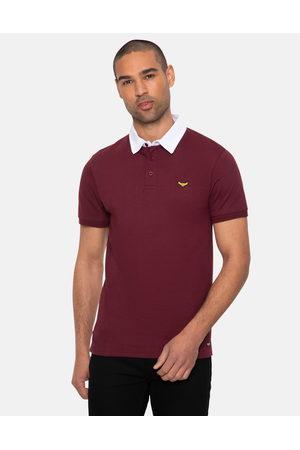 Threadbare Lomu Cotton Rugby Shirt Wine