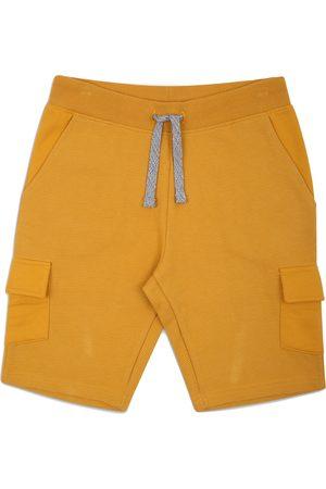 Threadbare Siro Mustard Plain Cargo Sweat shorts