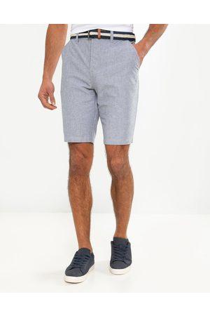 Threadbare Yell Belted Cotton Chino Shorts