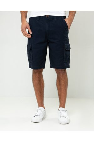 Threadbare Men Shorts - Bute Cotton Cargo Shorts Navy