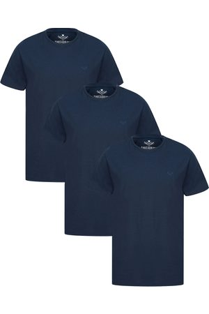 Threadbare 3 Pack Basic Cotton T Shirts Navy