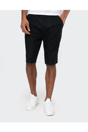 Threadbare Barry Linen Blend Chino Shorts Navy