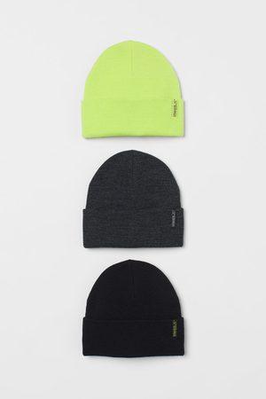 H&M 3-pack fine-knit hats