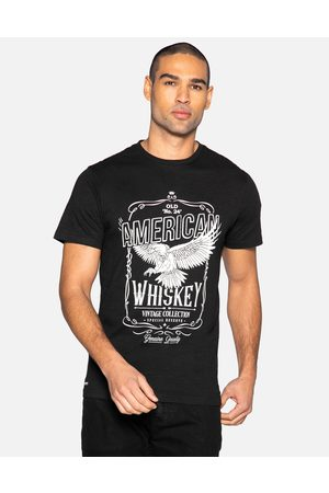 Threadbare Men Short Sleeve - Gregory Front Print Cotton T Shirt