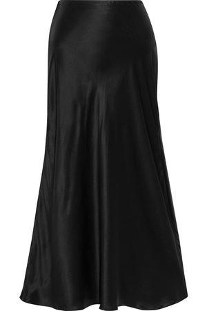 IRIS & INK Women Midi Skirts - Woman Anaïs Organic Silk-satin Midi Skirt Size 10