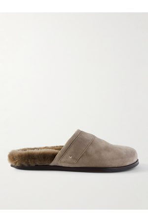 Mr P. Men Slippers - Shearling-Lined Suede Slippers