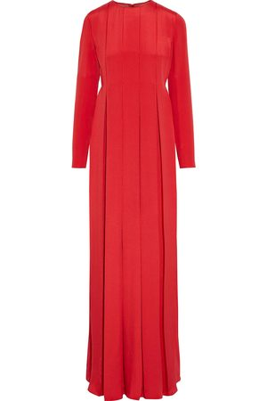 VALENTINO Woman Pleated Silk-satin Crepe Gown Size 0