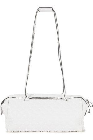 VALENTINO GARAVANI Woman Rockstud Spike Quilted Leather Shoulder Bag Size