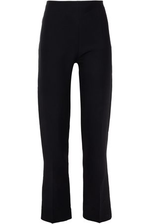 VALENTINO Women Formal Trousers - Woman Silk And Wool-blend Crepe Straight-leg Pants Size 42