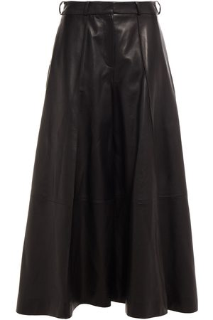 Khaite Women Leather Trousers - Woman Selma Leather Culottes Size 0