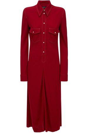 Isabel Marant Lonaki Jersey Midi Shirt Dress