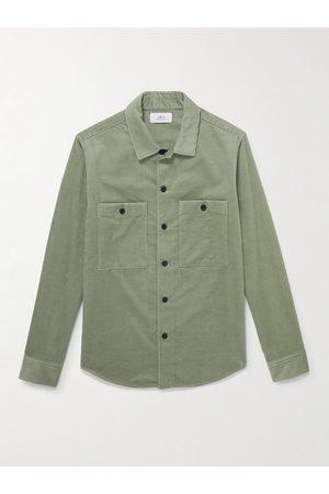 Mr P. Men Casual - Cotton and Cashmere-Blend Corduroy Overshirt