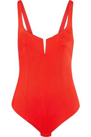 GALVAN LONDON Women Bodies - Woman Satin-jersey Bodysuit Tomato Size 34