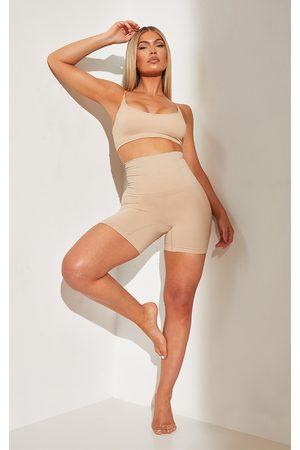PRETTYLITTLETHING Women Knicker Shorts - Nude Shapewear High Waist Control Shorts