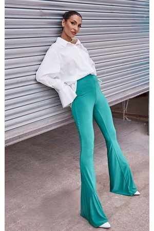 PRETTYLITTLETHING Women Wide Leg Trousers - Bright Soft Touch Flared Trousers
