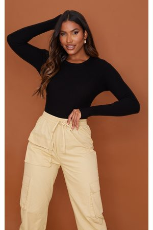 PRETTYLITTLETHING Women Bodies - Ribbed Knitted Long Sleeve Bodysuit