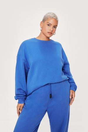 NASTY GAL Womens Plus Size Crew Neck Oversized Sweatshirt