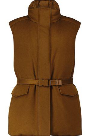 Loro Piana Laytin belted cashmere down vest