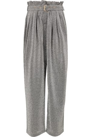 Balmain Lurex®-blend wide-leg pants