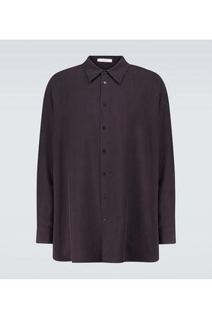 The Row Lukre long-sleeved silk shirt